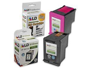 LD Remanufactured Ink Cartridge Replacements for (HP) CC654AN 901XL & CC656AN 901 (1 Blk & 1 Clr) for OfficeJet J4540, J4580, J4660, G510a, J4680c, G510n, J4524, J4550, 4500, J4624, J4680, G510g