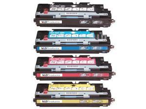 LD © Remanufactured Replacement Laser Toner Cartridges for HP Color LaserJet 3800: 1 Black Q7580A, 1 Cyan Q7581A, 1 Magenta ...