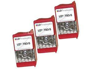 LD © Compatible Pitney Bowes 793-5 Set of 3 Fluorescent Red Ink Cartridges for Pitney Bowes Digital Mailing & Post Meters