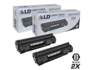LD © Compatible Replacement Laser Toner Cartridges for Hewlett Packard CE278A (HP 78A) Black (2 Pack) for use in HP Laserjet P1566, Pro M1536dnf & P1606dn Printers