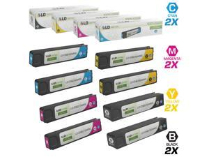 LD Remanufactured Replacements for HP 970XL / 970 / 971XL / 971 8PK HY Ink Cartridges Includes: 2 CN625AM Black, 2 CN626AM Cyan, 2 CN627AM Magenta, & 2 CN628AM Yellow for HP OfficeJet Pro Series