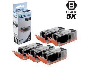 LD © Compatible Replacements for Canon 8050B001 PGI-255XXL / PGI-255 5PK Extra HY Black Inkjet Cartridges for use in Canon PIXMA iX6820, MX722, and MX922 Printers