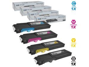 LD © Dell Compatible C2660/C2665dnf Set of 4 High Yield Toner Cartridges Includes: 1 593-BBBU Black, 1 593-BBBT Cyan, 1 ...