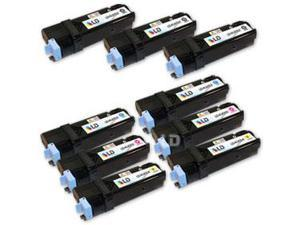 LD © Compatible Dell 1320c / 1320 Set of 9 High Yield Toner Cartridges 3 Black KU052,2 Cyan KU053, 2 Magenta KU055, and 2 ...