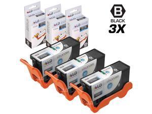 LD © Compatible Lexmark 100XL / 100 14N1068 Set of 3 High Yield Black Inkjet Cartridges