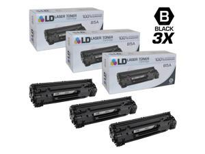 LD © Compatible Replacements for Hewlett Packard CE285A (HP 85A) Set of 3 Black Laser Toner Cartridges for use in HP LaserJet Pro M1132, M1212nf, M1217nfw MFP, P1102, and P1102W Printers