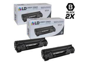LD © Compatible Replacements for Hewlett Packard CE285A (HP 85A) Set of 2 Black Laser Toner Cartridges for use in HP LaserJet Pro M1132, M1212nf, M1217nfw MFP, P1102, and P1102W Printers