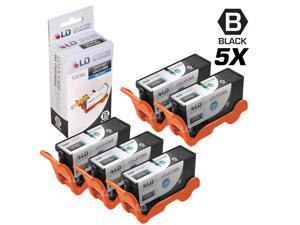 LD © Compatible Lexmark 100XL / 100 14N1068 Set of 5 High Yield Black Inkjet Cartridges