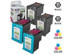 LD © Remanufactured Replacement Ink Cartridges for Hewlett Packard (HP) C9362WN (HP 92) Black and C9361WN (HP 93) Color (2 ...