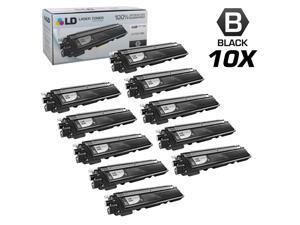 LD Brother Compatible Set of 10 Black TN210BK Laser Toner Cartridges for DCP-9010CN, HL-3040CN, HL-3045CN, HL-3070CW, HL-3075CW, ...