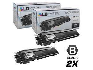 LD Brother Compatible Set of 2 Black TN210BK Laser Toner Cartridges for DCP-9010CN, HL-3040CN, HL-3045CN, HL-3070CW, HL-3075CW, ...