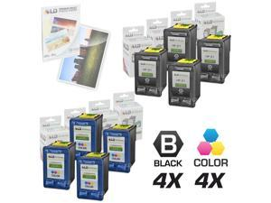 LD © Remanufactured Ink Cartridge Replacements for HP C9351AN (HP 21) Black and HP C9352AN (HP 22) Color (4 Black and 4 Color) ...