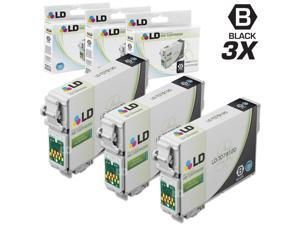 LD © Remanufactured Replacement for Epson T0791 Set of 3 Black High Yield Ink Cartridges Includes: 3 T079120 Black for use in Artisan 1430, and Stylus Photo 1400 Printers