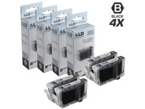 LD © Compatible Replacements for Canon 6384B002 / CLI-42BK Set of 4 Black Ink Cartridges for use in Canon PIXMA PRO-100 Printer