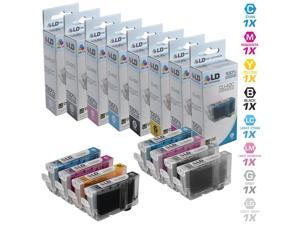 LD © Compatible Replacements for Canon CLI-42 8PK Ink Cartridges: 1 CLI-42BK, 1 CLI-42C, 1 CLI-42M, 1 CLI-42Y, 1 CLI-42PC, 1 CLI-42PM, 1 CLI-42GY, & 1 CLI-42LGY cartridges for PIXMA PRO-100