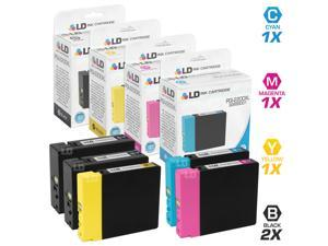 LD © Compatible Replacements for Canon PGI-2200XL 5PK HY Ink Cartridges: 2 9255B001 Black, 1 9268B001 Cyan, 1 9269B001 Magenta, & 1 9270B001 Yellow for Maxify iB4020, MB5020, & MB5320