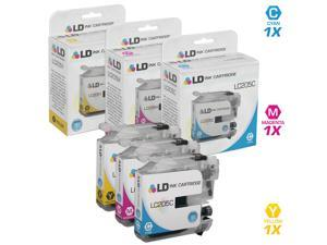 LD © Compatible Replacements for Brother LC205 3PK Ink Cartridges: 1 LC205C Cyan, 1 LC205M Magenta, & 1 LC205Y Yellow for MFCJ4320DW, J4420DW, J4620DW, J5520DW, J5620DW, and J5720DW