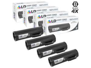 LD © Compatible Xerox 106R02720 Set of 4 Black Laser Toner Cartridges for Xerox Phaser 3610 & WorkCentre 3615 Printers