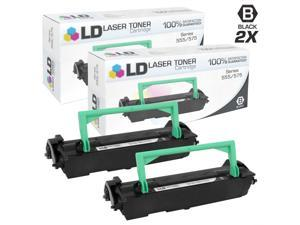 LD © Remanufactured Xerox 106R402 / 106R00402 Set of 2 Black Laser Toner Cartridges for WorkCentre Pro 555, 555 MFS, and 575