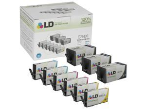 LD © Remanufactured Replacements for Hewlett Packard 934XL/935XL 9PK Ink Cartridges:3 C2P23AN Blk, 2 C2P24AN C, 2 C2P25AN M, & 2 C2P26AN Y for OfficeJet 6812,6815,OfficeJet Pro 6230,6830,& 6835