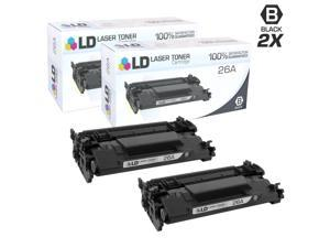 LD © Compatible Replacements for HP 26A / CF226A Set of 2 Black Laser Toner Cartridges for LaserJet Pro Printers: M402dn, M402dw, M402n, MFP M426fdn, MFP M426fdw