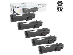 LD © Compatible Dell 593-BBOW / N7DWF Set of 5 Black Toner Cartridges for Laser H625cdw, H825cdw, S2825cdn