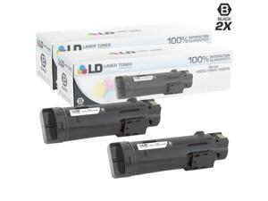 LD © Compatible Dell 593-BBOW / N7DWF Set of 2 Black Toner Cartridges for Laser H625cdw, H825cdw, S2825cdn