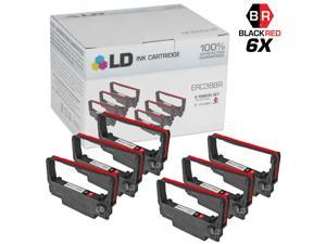 LD © Epson Compatible Replacement 6 Pack Black and Red POS Ribbon Cartridges - ERC38BR