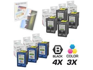 LD © Remanufactured Ink Cartridge Replacements for HP C9351AN (HP 21) Black and HP C9352AN (HP 22) Color (4 Black and 3 Color) ...
