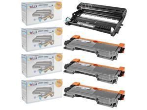 LD Compatible Brother TN450 Toner and DR420 Drum Combo: 3 Black TN450 Cartridge and 1 DR420 Drum for HL-2240, IntelliFax-2840, ...