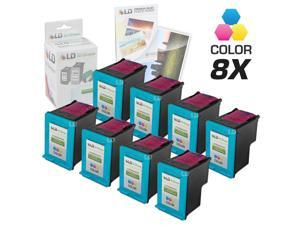 LD © Remanufactured Replacement Ink Cartridges for Hewlett Packard C8766WN (HP 95) Tri-Color (8 Pack) + Free 20 Pack of Brand ...