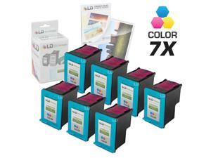 LD © Remanufactured Replacement Ink Cartridges for Hewlett Packard C8766WN (HP 95) Tri-Color (7 Pack) + Free 20 Pack of Brand ...