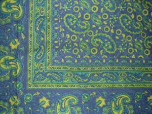 "Jaipur Paisley Tapestry Cotton Spread 106"" x 70"" Twin Blue"