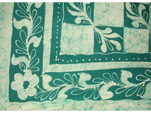 """Patchwork Batik Tapestry Cotton Spread 106"""" x 72"""" Twin Teal"""