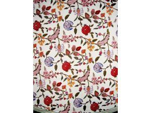 """Floral Berry Round Cotton Tablecloth 72"""" Multi Color"""