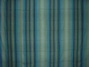 "Handloom Striped Cotton Spread 98"" x 86"" Full Turquoise"