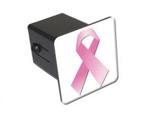 """Breast Cancer Ribbon - 2"""" Tow Trailer Hitch Cover Plug Insert"""