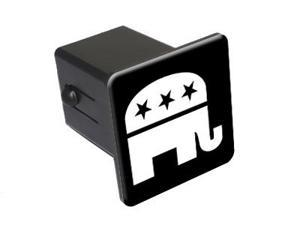 """Republican Elephant - 2"""" Tow Trailer Hitch Cover Plug Insert"""