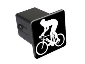 "Mountain Biker - 2"" Tow Trailer Hitch Cover Plug Insert"