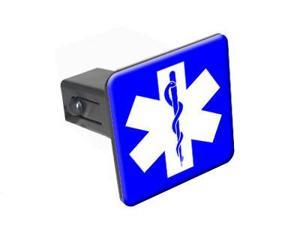 """Star of Life - 1.25"""" Tow Trailer Hitch Cover Plug Insert"""