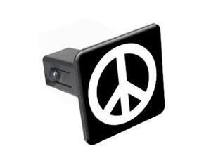 "Peace Sign - 1.25"" Tow Trailer Hitch Cover Plug Insert"
