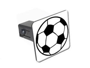 "Soccer Ball - 1.25"" Tow Trailer Hitch Cover Plug Insert"