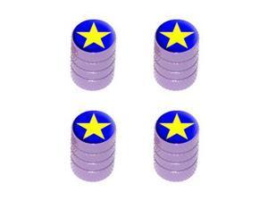 Star - Tire Rim Valve Stem Caps - Purple