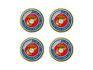 United States Marine Corps Symbol - Wheel Center Cap 3D Domed Set of 4 Stickers Badges