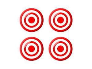 Target - Bullseye Sniper - Wheel Center Cap 3D Domed Set of 4 Stickers Badges