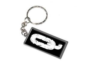 Letter Initial Q Keychain Key Chain Ring