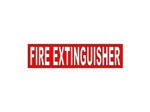"Fire Extinguisher Sticker - 8"" (width) X 2"" (height)"