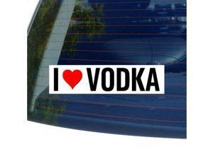 "I Love Heart VODKA Sticker - 8"" (width) X 2"" (height)"