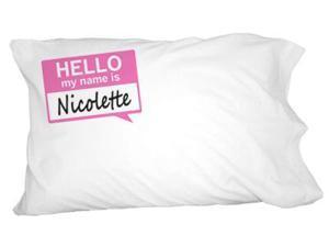 Nicolette Hello My Name Is Novelty Bedding Pillowcase Pillow Case