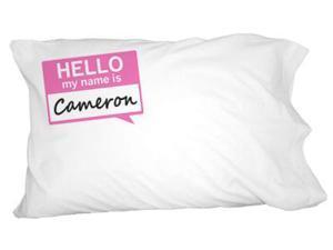 Cameron Hello My Name Is Novelty Bedding Pillowcase Pillow Case